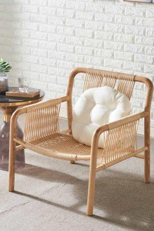 Falch & Frische lounge stol med flettet rattansete og rygg ff68