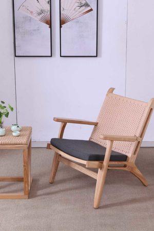 Dansk design fra Falch og frische økologisk naturlig lenestol med naturfiber