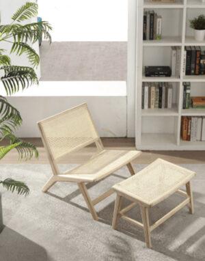falch frische rotting lounge stol med fotskammel krakk